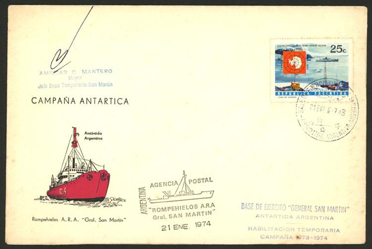 Lot 20 - argentine antarctica postal history -  Guillermo Jalil - Philatino Auction # 2013 ARGENTINA: