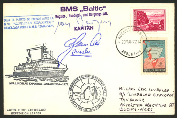 Lot 18 - argentine antarctica postal history -  Guillermo Jalil - Philatino Auction # 2013 ARGENTINA:
