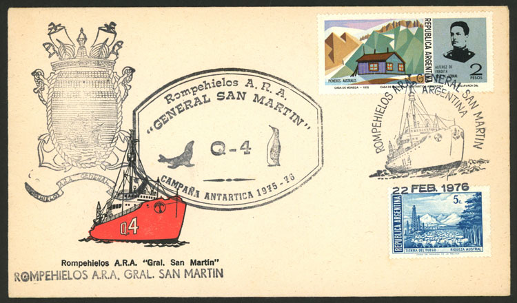 Lot 23 - argentine antarctica postal history -  Guillermo Jalil - Philatino Auction # 2013 ARGENTINA: