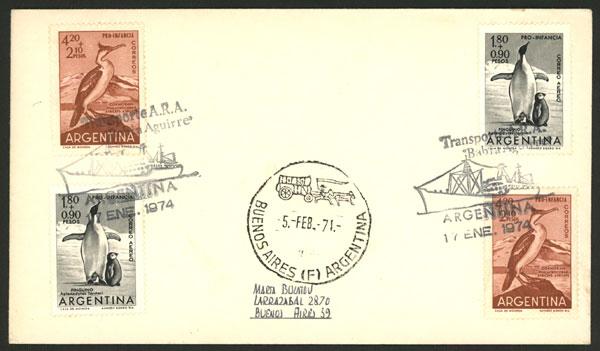Lot 19 - argentine antarctica postal history -  Guillermo Jalil - Philatino Auction # 2013 ARGENTINA: