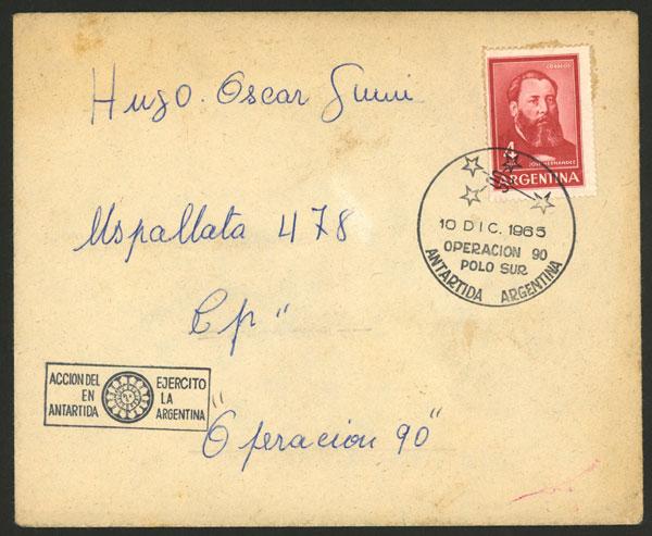 Lot 7 - argentine antarctica postal history -  Guillermo Jalil - Philatino Auction # 2013 ARGENTINA: