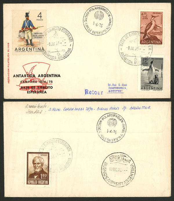 Lot 21 - argentine antarctica postal history -  Guillermo Jalil - Philatino Auction # 2013 ARGENTINA: