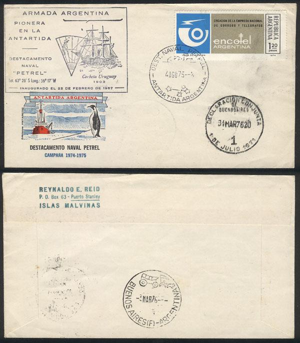 Lot 22 - argentine antarctica postal history -  Guillermo Jalil - Philatino Auction # 2013 ARGENTINA: