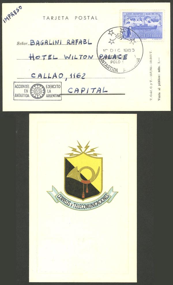 Lot 8 - argentine antarctica postal history -  Guillermo Jalil - Philatino Auction # 2013 ARGENTINA:
