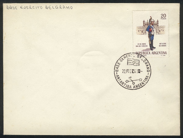 Lot 14 - argentine antarctica postal history -  Guillermo Jalil - Philatino Auction # 2013 ARGENTINA: