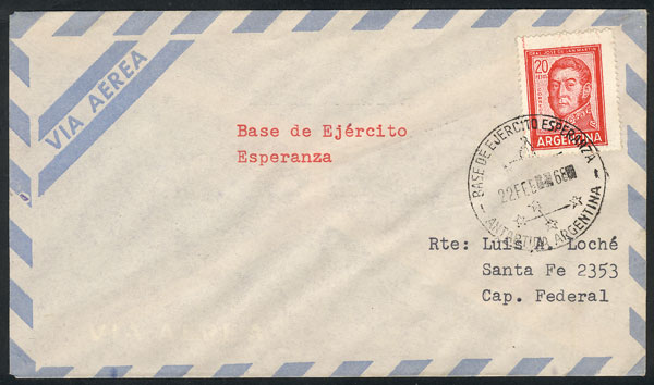 Lot 10 - argentine antarctica postal history -  Guillermo Jalil - Philatino Auction # 2013 ARGENTINA:
