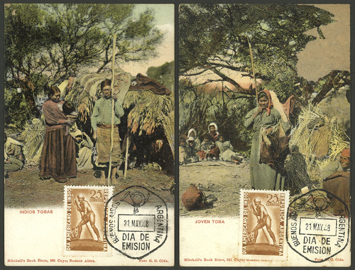 Lot 188 - Argentina postcards -  Guillermo Jalil - Philatino Auction # 2014 WORLDWIDE + ARGENTINA: Selection of good covers, postcards and more!
