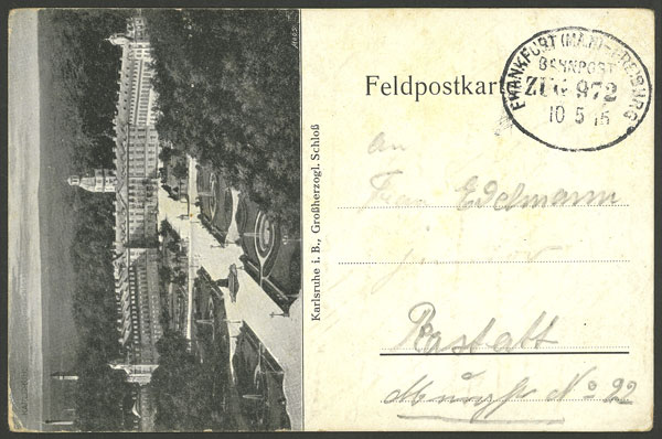 Lot 12 - germany postal history -  Guillermo Jalil - Philatino Auction # 2014 WORLDWIDE + ARGENTINA: Selection of good covers, postcards and more!