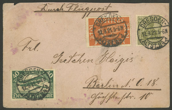 Lot 15 - germany postal history -  Guillermo Jalil - Philatino Auction # 2014 WORLDWIDE + ARGENTINA: Selection of good covers, postcards and more!