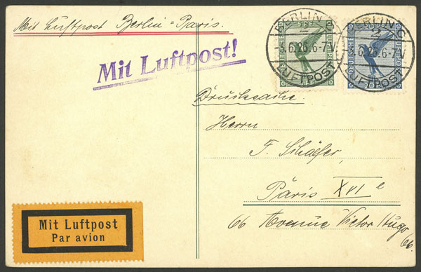 Lot 20 - germany postal history -  Guillermo Jalil - Philatino Auction # 2014 WORLDWIDE + ARGENTINA: Selection of good covers, postcards and more!