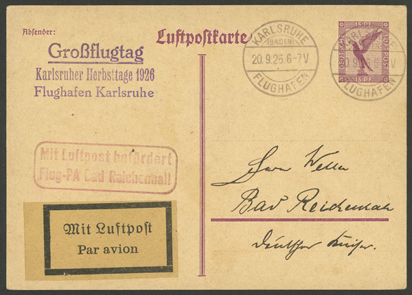 Lot 21 - germany postal history -  Guillermo Jalil - Philatino Auction # 2014 WORLDWIDE + ARGENTINA: Selection of good covers, postcards and more!
