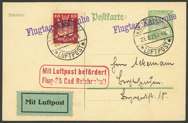 Lot 19 - germany postal history -  Guillermo Jalil - Philatino Auction # 2014 WORLDWIDE + ARGENTINA: Selection of good covers, postcards and more!