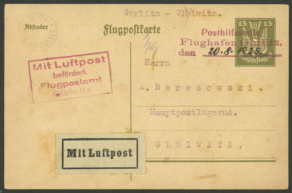 Lot 18 - germany postal history -  Guillermo Jalil - Philatino Auction # 2014 WORLDWIDE + ARGENTINA: Selection of good covers, postcards and more!