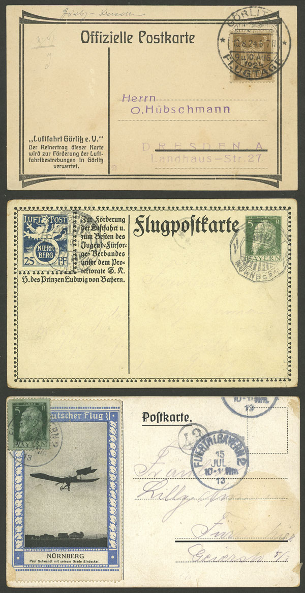 Lot 10 - germany postal history -  Guillermo Jalil - Philatino Auction # 2014 WORLDWIDE + ARGENTINA: Selection of good covers, postcards and more!
