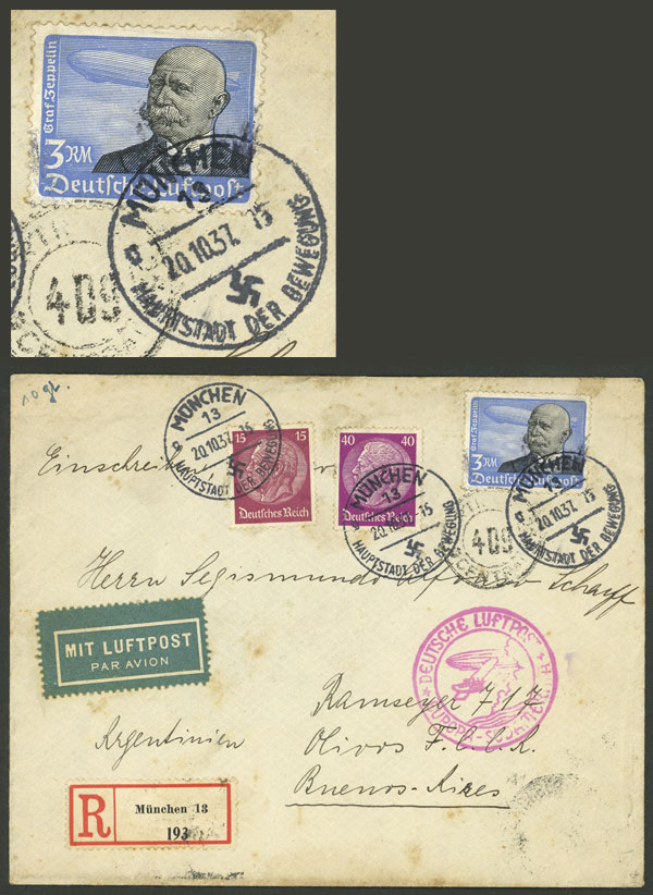Lot 7 - germany airmail -  Guillermo Jalil - Philatino Auction # 2014 WORLDWIDE + ARGENTINA: Selection of good covers, postcards and more!