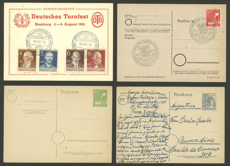 Lot 9 - germany Postal stationery -  Guillermo Jalil - Philatino Auction # 2014 WORLDWIDE + ARGENTINA: Selection of good covers, postcards and more!