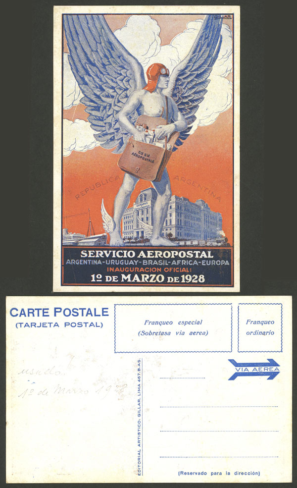 Lot 183 - Argentina postcards -  Guillermo Jalil - Philatino Auction # 2014 WORLDWIDE + ARGENTINA: Selection of good covers, postcards and more!