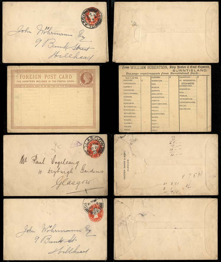 Lot 641 - Great Britain postal history -  Guillermo Jalil - Philatino Auction # 2014 WORLDWIDE + ARGENTINA: Selection of good covers, postcards and more!