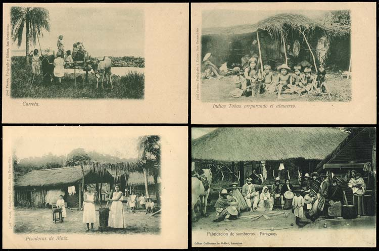 Lot 816 - Paraguay postcards -  Guillermo Jalil - Philatino Auction # 2014 WORLDWIDE + ARGENTINA: Selection of good covers, postcards and more!
