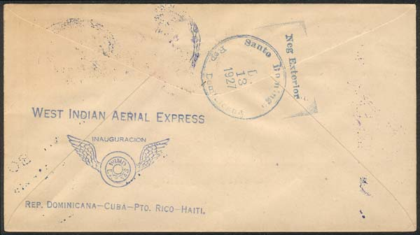 Lot 663 - haiti postal history -  Guillermo Jalil - Philatino Auction # 2014 WORLDWIDE + ARGENTINA: Selection of good covers, postcards and more!
