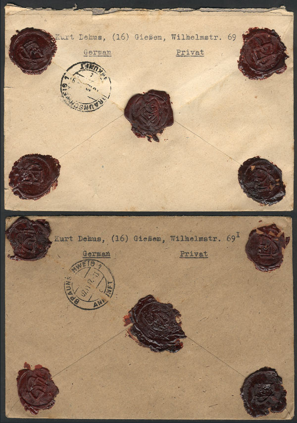 Lot 22 - germany postal history -  Guillermo Jalil - Philatino Auction # 2014 WORLDWIDE + ARGENTINA: Selection of good covers, postcards and more!