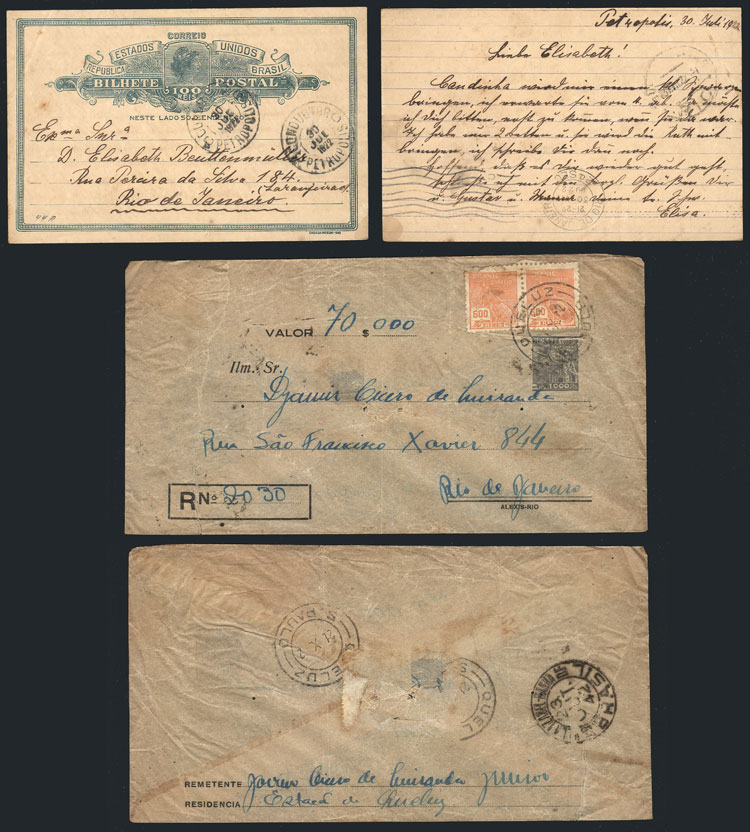 Lot 255 - brazil Postal stationery -  Guillermo Jalil - Philatino Auction # 2014 WORLDWIDE + ARGENTINA: Selection of good covers, postcards and more!