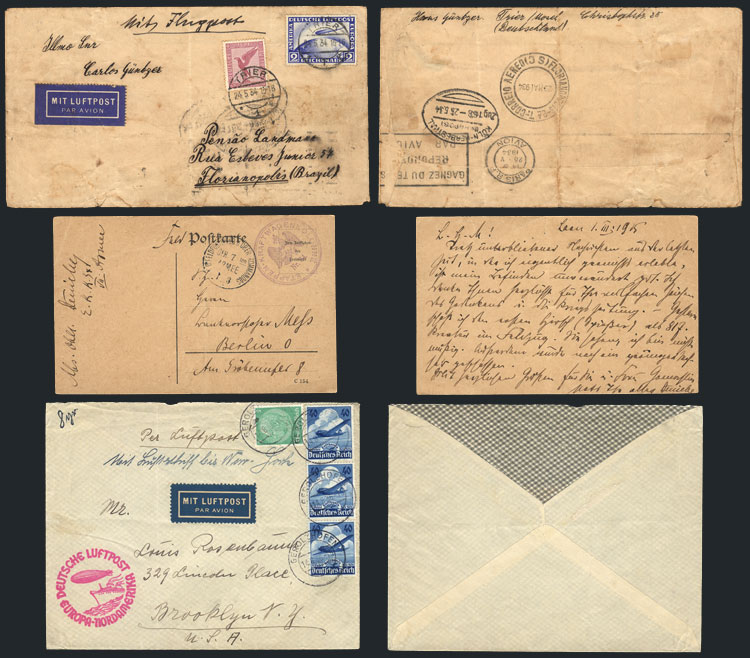 Lot 11 - germany postal history -  Guillermo Jalil - Philatino Auction # 2014 WORLDWIDE + ARGENTINA: Selection of good covers, postcards and more!