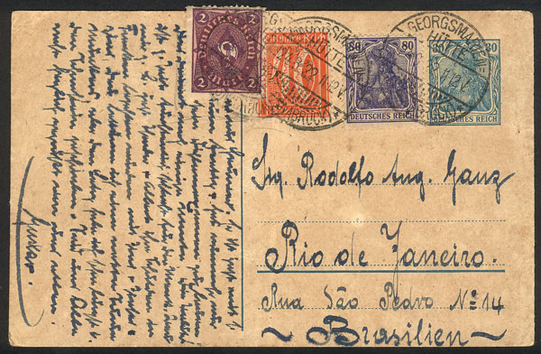 Lot 16 - germany postal history -  Guillermo Jalil - Philatino Auction # 2014 WORLDWIDE + ARGENTINA: Selection of good covers, postcards and more!