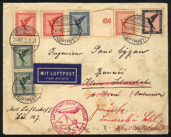 Lot 25 - germany postal history -  Guillermo Jalil - Philatino Auction # 2014 WORLDWIDE + ARGENTINA: Selection of good covers, postcards and more!