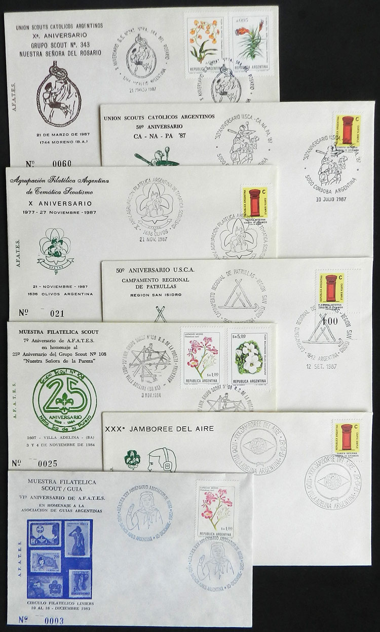 Lot 5 - topic scouts Lots and Collections -  Guillermo Jalil - Philatino Auction # 2014 WORLDWIDE + ARGENTINA: Selection of good covers, postcards and more!