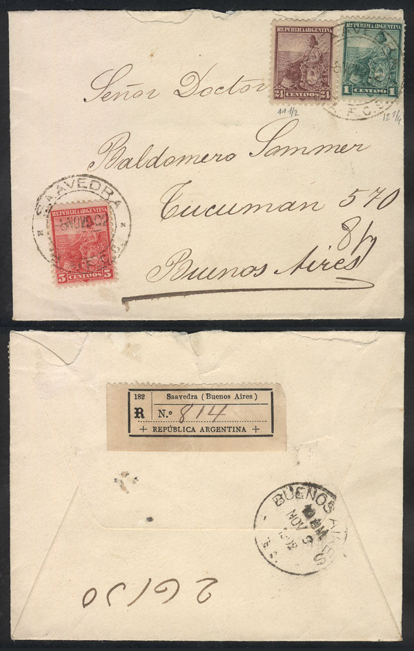 Lot 197 - Argentina postal history -  Guillermo Jalil - Philatino Auction # 2015 ARGENTINA: Special auction for the quarantine