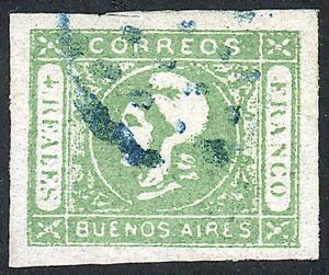 Lot 7 - Argentina cabecitas -  Guillermo Jalil - Philatino Auction # 2015 ARGENTINA: Special auction for the quarantine