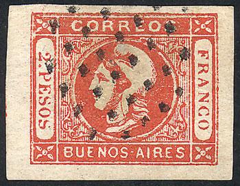 Lot 5 - Argentina cabecitas -  Guillermo Jalil - Philatino Auction # 2015 ARGENTINA: Special auction for the quarantine