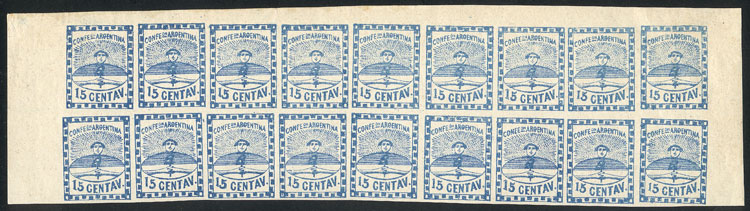 Lot 29 - Argentina confederation -  Guillermo Jalil - Philatino Auction # 2015 ARGENTINA: Special auction for the quarantine