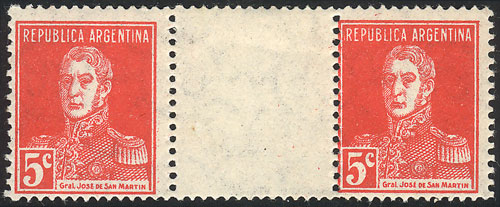 Lot 127 - Argentina general issues -  Guillermo Jalil - Philatino Auction # 2015 ARGENTINA: Special auction for the quarantine