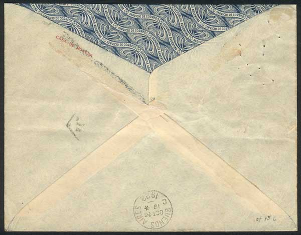 Lot 204 - Argentina postal history -  Guillermo Jalil - Philatino Auction # 2015 ARGENTINA: Special auction for the quarantine