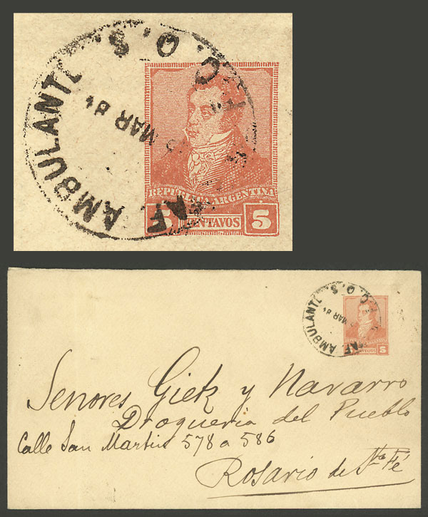 Lot 632 - Argentina postal history -  Guillermo Jalil - Philatino Auction # 2016 ARGENTINA: great auction with very interesting lots, low starts!