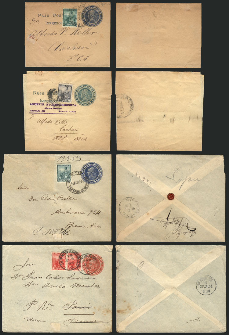 Lot 666 - Argentina postal history -  Guillermo Jalil - Philatino Auction # 2016 ARGENTINA: great auction with very interesting lots, low starts!