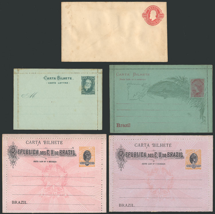 Lot 315 - brazil Postal stationery -  Guillermo Jalil - Philatino Auction # 2018 WORLDWIDE + ARGENTINA: Special auction for the quarantine