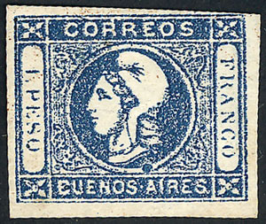 Lot 59 - Argentina cabecitas -  Guillermo Jalil - Philatino Auction # 2018 WORLDWIDE + ARGENTINA: Special auction for the quarantine