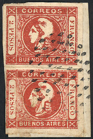 Lot 62 - Argentina cabecitas -  Guillermo Jalil - Philatino Auction # 2018 WORLDWIDE + ARGENTINA: Special auction for the quarantine