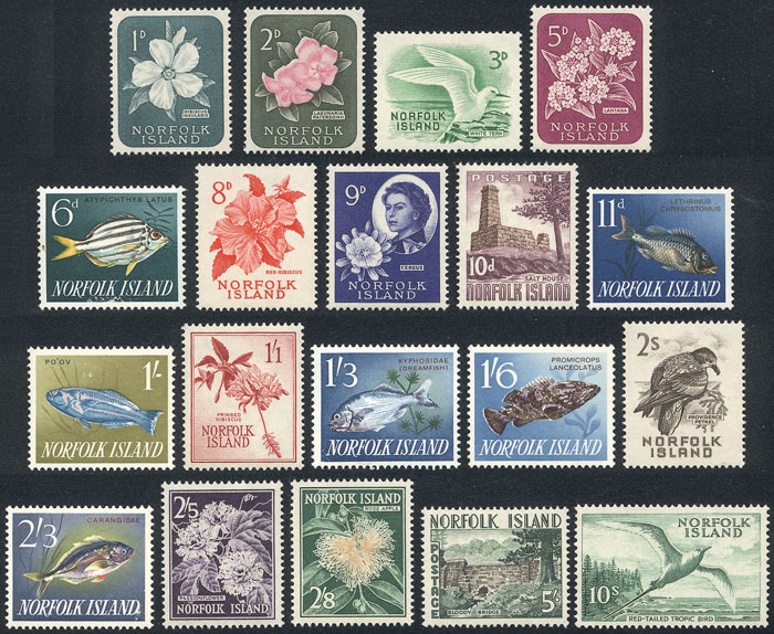 Lot 654 - norfolk general issues -  Guillermo Jalil - Philatino Auction # 2018 WORLDWIDE + ARGENTINA: Special auction for the quarantine