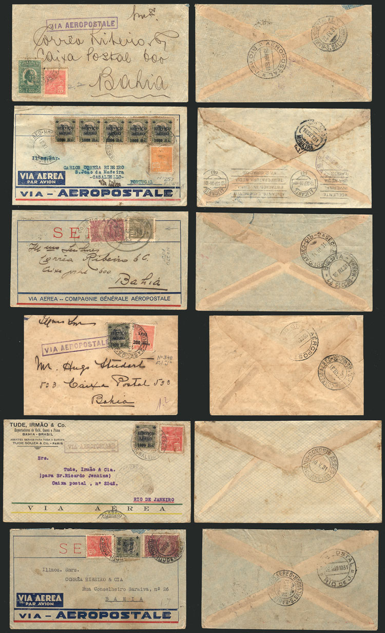 Lot 333 - brazil postal history -  Guillermo Jalil - Philatino Auction # 2018 WORLDWIDE + ARGENTINA: Special auction for the quarantine
