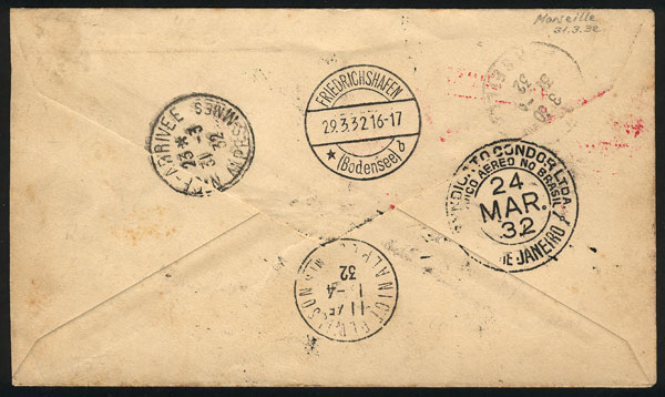 Lot 345 - brazil postal history -  Guillermo Jalil - Philatino Auction # 2018 WORLDWIDE + ARGENTINA: Special auction for the quarantine