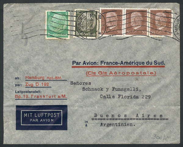 Lot 11 - germany postal history -  Guillermo Jalil - Philatino Auction # 2018 WORLDWIDE + ARGENTINA: Special auction for the quarantine