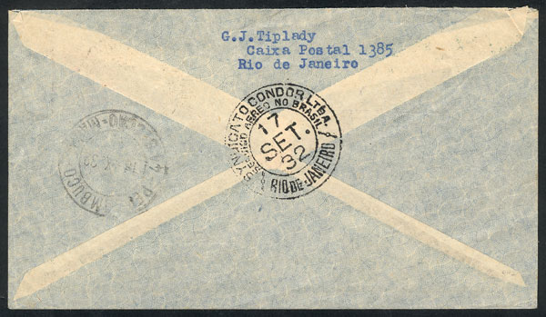 Lot 348 - brazil postal history -  Guillermo Jalil - Philatino Auction # 2018 WORLDWIDE + ARGENTINA: Special auction for the quarantine