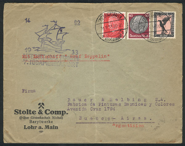 Lot 8 - germany postal history -  Guillermo Jalil - Philatino Auction # 2018 WORLDWIDE + ARGENTINA: Special auction for the quarantine