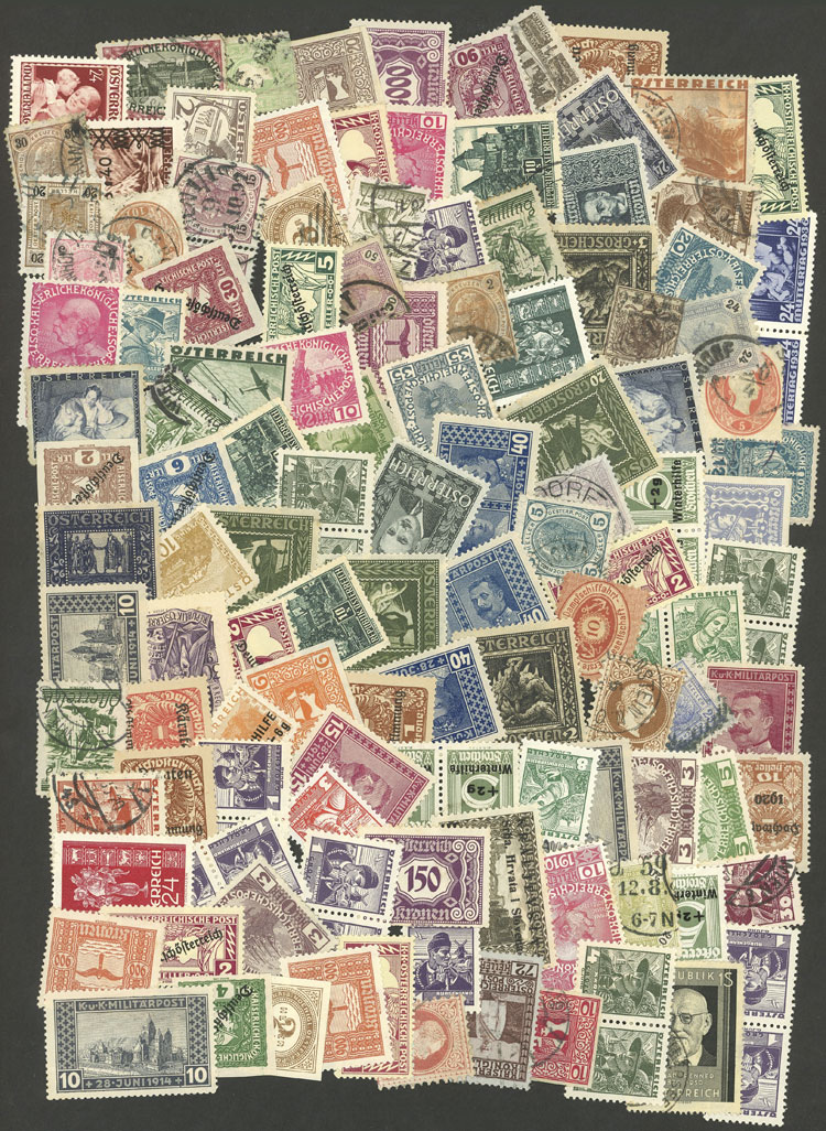 Lot 409 - Austria Lots and Collections -  Guillermo Jalil - Philatino Auction # 2024 WORLDWIDE - ARGENTINA: Special June auction