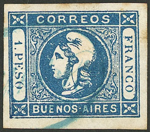 Lot 85 - Argentina cabecitas -  Guillermo Jalil - Philatino Auction # 2024 WORLDWIDE - ARGENTINA: Special June auction