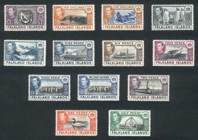 Lot 1189 - falkland islands/malvinas general issues -  Guillermo Jalil - Philatino Auction # 2024 WORLDWIDE - ARGENTINA: Special June auction
